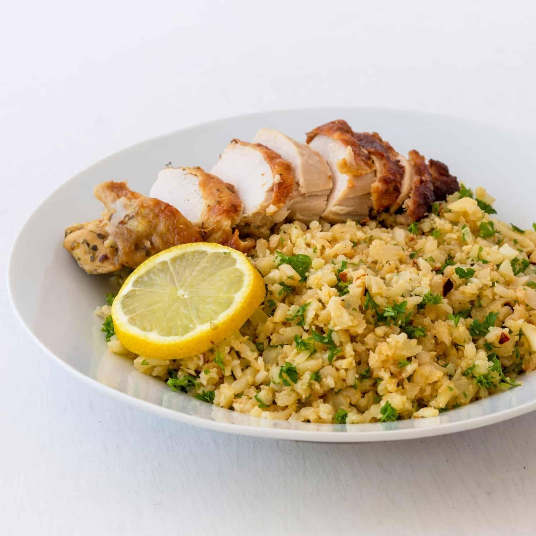 Honey Chicken Cauliflower Rice