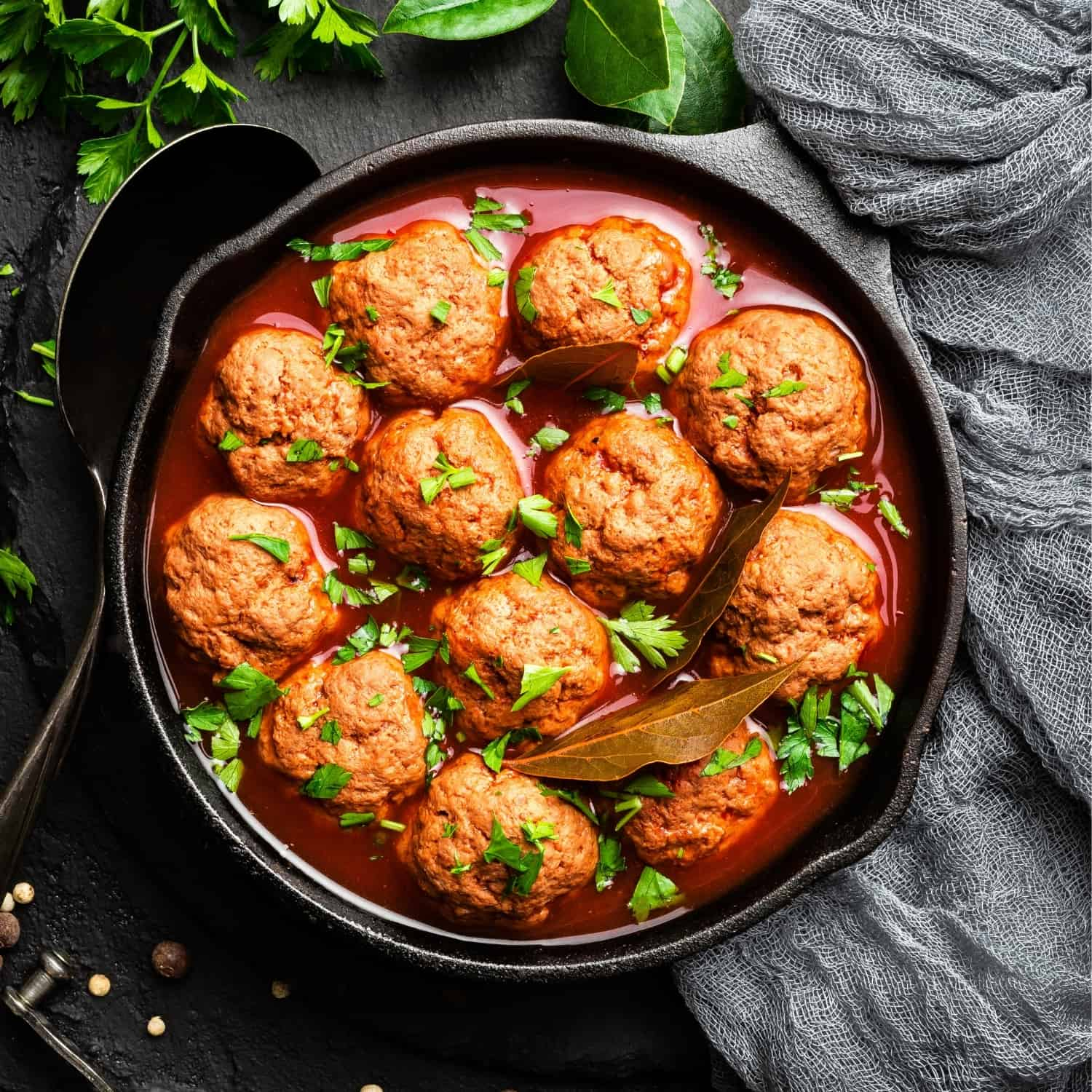The Meat Club meatballs in tomato sauce