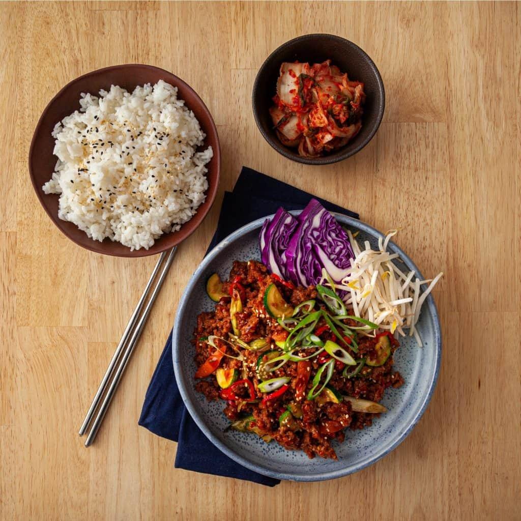 Plant based v2mince Korean Stir-Fry