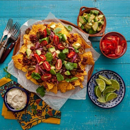 Plant based v2mince nachos