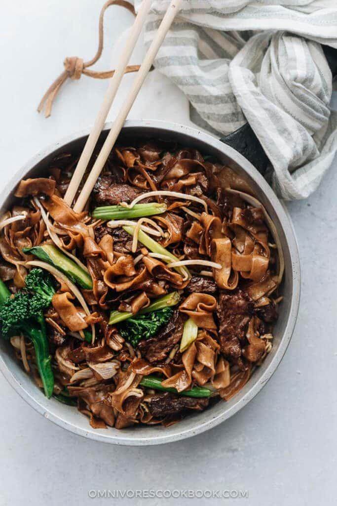 Garlic and Ginger Beef Strip Noodles
