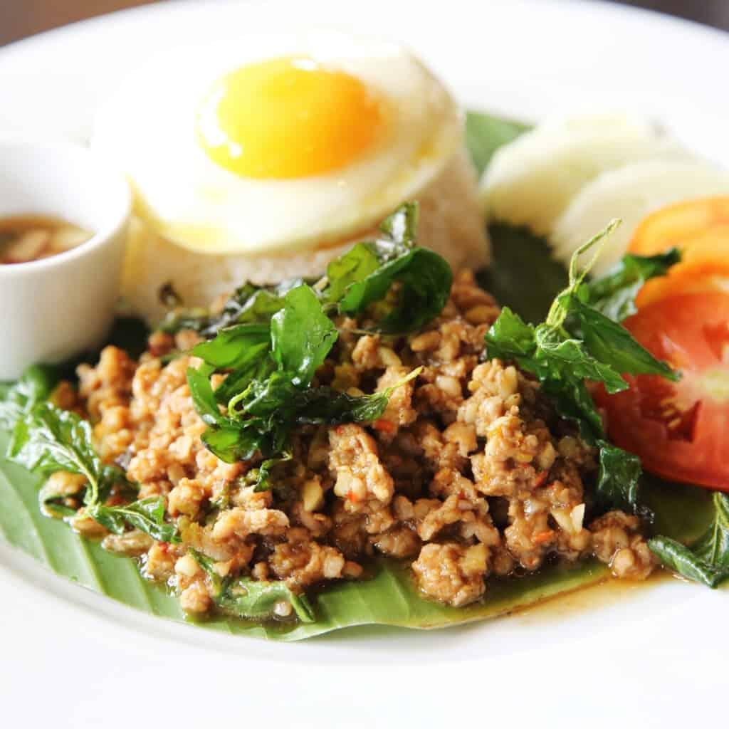 Minced Lamb with Thai Basil