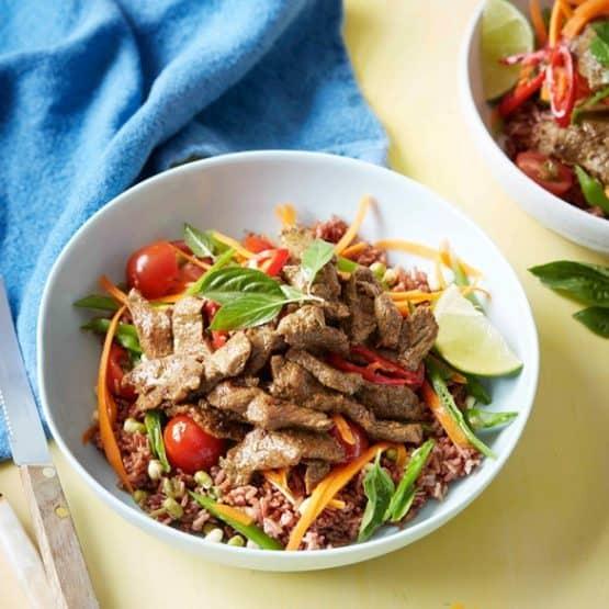 Thai beef power bowl