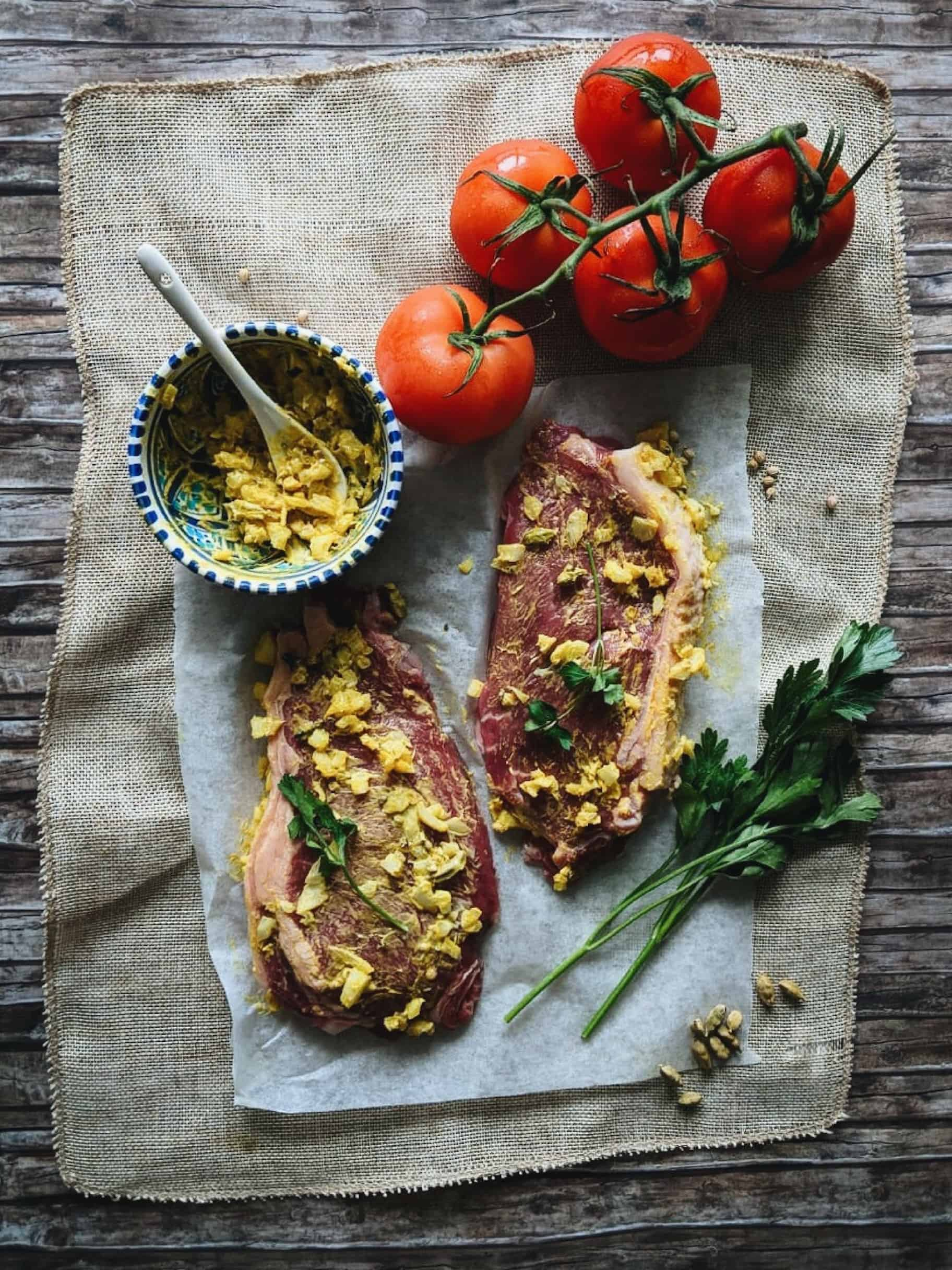 Indian Spiced Beef Steaks