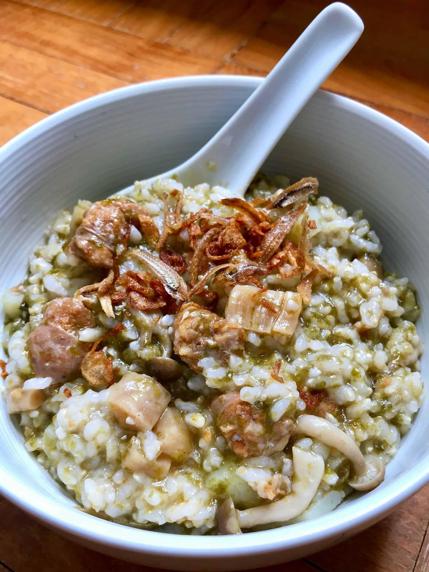 Pork Chorizo Sausages Brown Rice Porridge