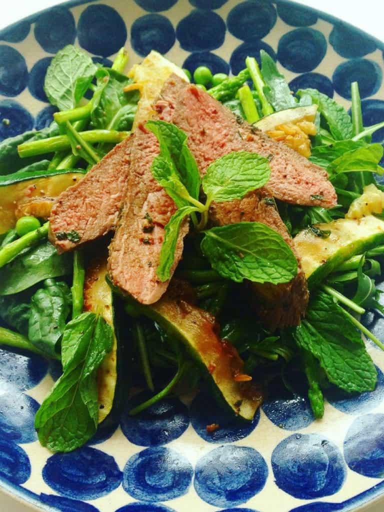 Lamb Zucchini Mint Salad
