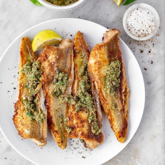 Gurnard Fish Fillets With Herb Dressing