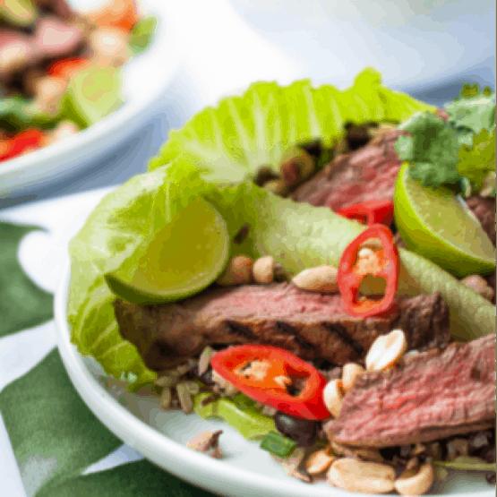 The Meat Club Chilli Steak Lettuce Cups