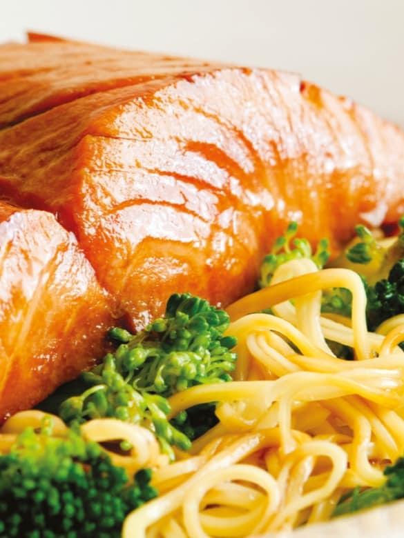Teriyaki Salmon Pasta