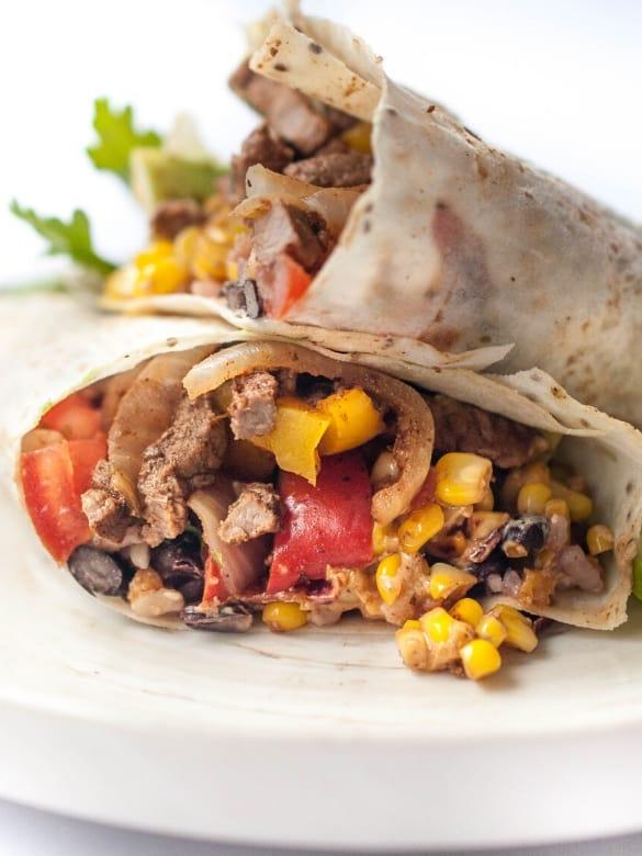 Beef Strip Burritos