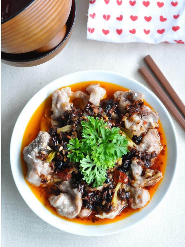 Steamed Szechuan Spicy Pork Spare Ribs