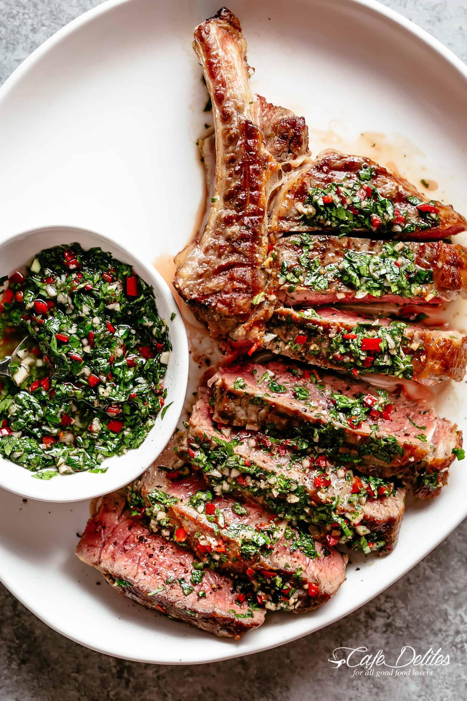 Tomahawk Steak with Chimichurri