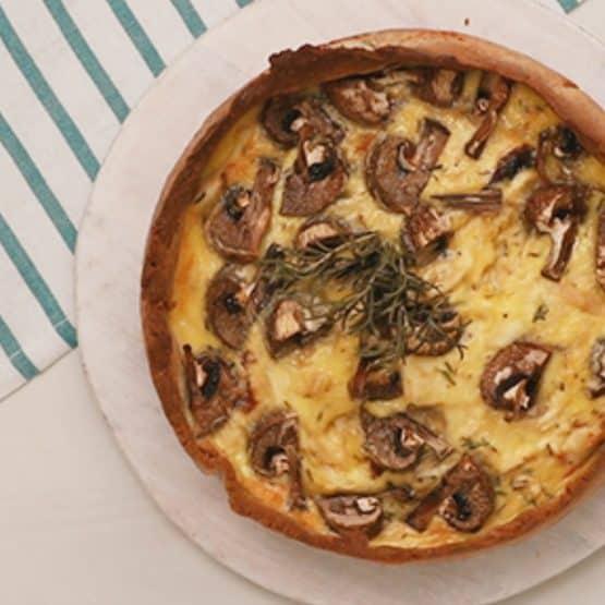 Easy Keto Chicken and Mushroom Quiche