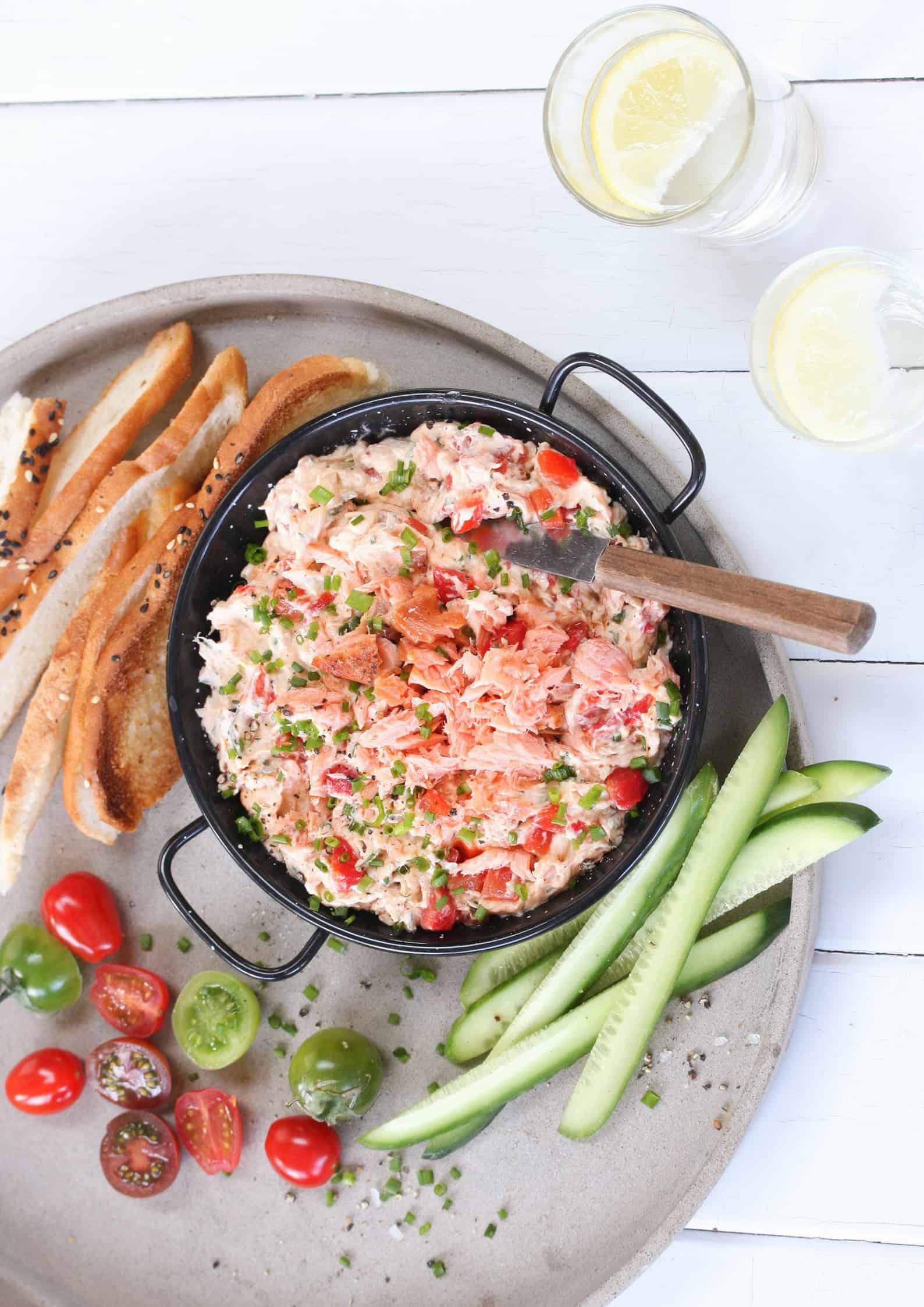 Salmon and Red Capsicum Dip