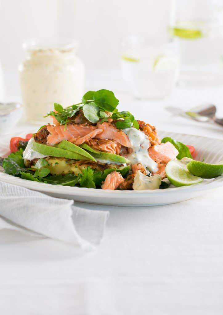 Potato Hash Salmon Salad