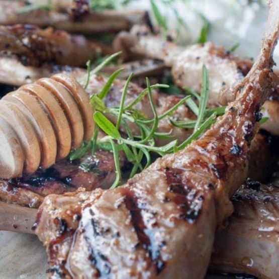 Honey balsamic lamb chops
