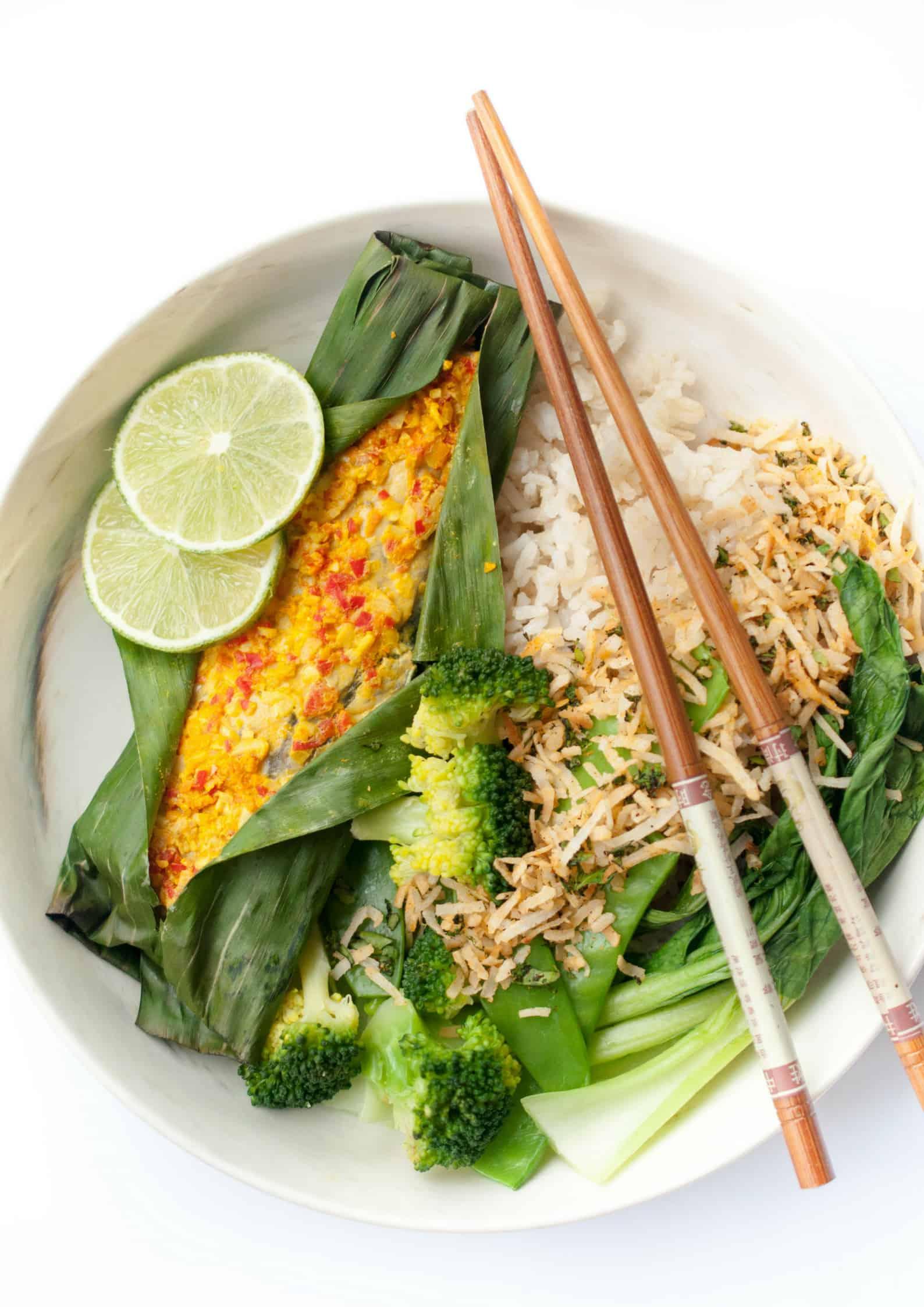 Turmeric Lemongrass Fish with Coconut Rice