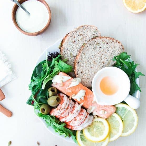 Salmon Seafood Platter