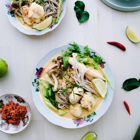 Barramundi Thai Red Curry Soba