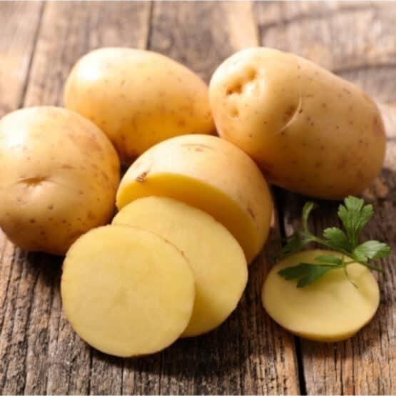Skinned White Potatoes